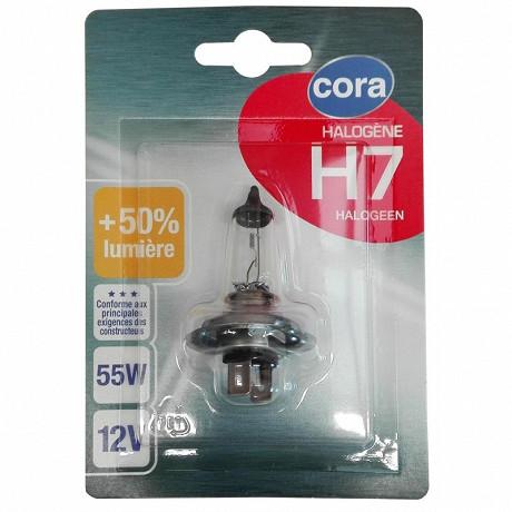 Cora ampoule voiture halogène H7 64210SVS-01B