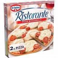 Dr Oetker 2 pizzas ristorante mozzarella pack de 2 pizza mozzarella 670g