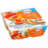 Cora spécialité de pommes pêches abricots 4x97g sans sucres ajoutés