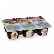 Cora kido crème dessert chocolat et lait 6x70g