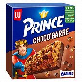 Lu Prince 6 barres choco 125g