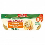 Bledina les idées de maman purée pommes de terre, poulet 2x200g dès 8 mois