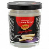 Cora dégustation pâte à tartiner au chocolat blanc 225g