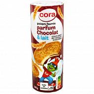 Cora kido goûters fourrés bi gout chocolat et lait 300g