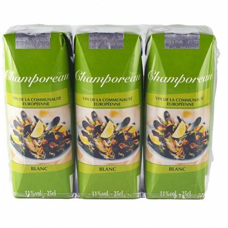 Champoreau vce blanc briquettes 3 x 25 cl 11% Vol.