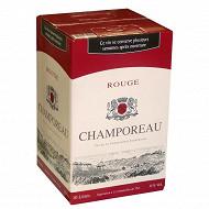 Champoreau vin de la communauté Européenne rouge poche 10 litres 11% Vol.