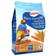 Cora menu complet oiseaux exotiques sachet 1kg