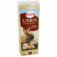 Cora litière copeaux de bois pour rongeurs 1kg
