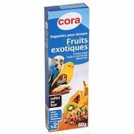 Cora baguettes pour oiseaux aux fruits exotiques x2 boîte 60g