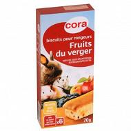 Cora biscuits pour rongeurs aux fruits du verger