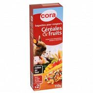 Cora - Baguettes pour rongeurs aux céréales et fruits