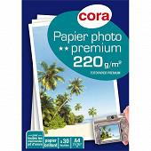 Papier photo A4 220 gr par 30 feuilles COPP2204-09