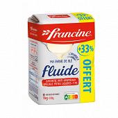 Francine farine fluide 1kg + 33% offert
