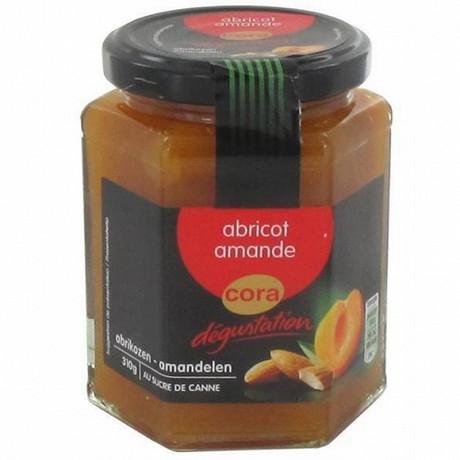 Cora dégustation préparation de fruits abricots et amandes 310g