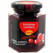 Cora dégustation préparation de fruits framboise et cranberry 310g