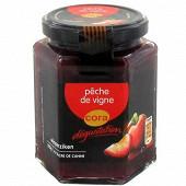 Cora dégustation préparation de fruits pêche de vigne 310g