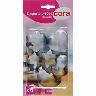 Cora emporte pièces x6 inox