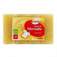 Cora savon de Marseille glycérine 4x200g