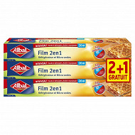 Handy bag film 2 en1 20m lot 2+1 offert