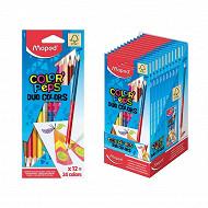 "Maped 12 crayons de couleur ""duo"" en pochette carton"