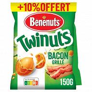 Bénénuts twinuts bacon 2x150g + 10% offert