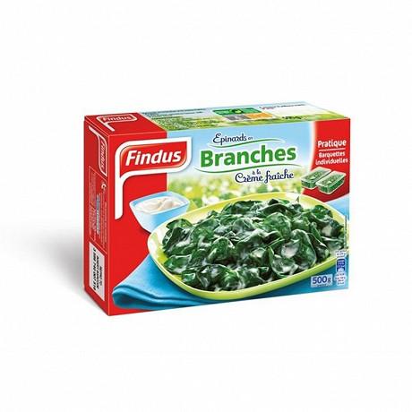 Findus épinards en branches à la crème fraiche 500 g