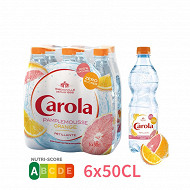 Carola aromatisée pamplemousse orange sanguine pet 6X50 cl