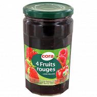 Cora confiture 4 fruits bocal 750g