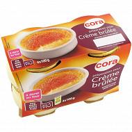 Cora preparation pour crème brulée 4x100g