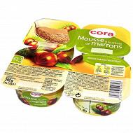 Cora dessert lacté mousse à la crème de marrons 4x73g