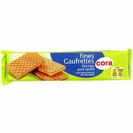 Cora fines gaufrettes fourrées goût vanille 100g