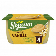 Sojasun dessert au soja saveur vanille 4x100 g