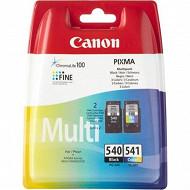 Canon Pack cartouches noire + couleurs PG540+CL541