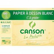 Canson - Pochette c à grain 12 feuilles a4 180 grammes blanc