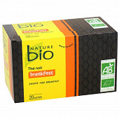 Nature bio thé noir breakfast 20 sachets 36g