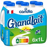 Grandlait lait demi-écrémé bouteille 6x1l