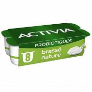 Danone Activia lait fermenté brassé nature au bifidus 8x125g