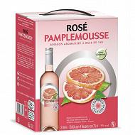 Champoreau boisson aromatisé à base de vin rosé pamplemousse poche de 3 litres 8% Vol.