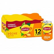 Lipton Ice Tea pêche boites 12 x 33 cl Format spécial