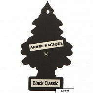 Arbre magique desodorisant voiture black classic