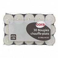 Cora chauffe plats x30 blanc