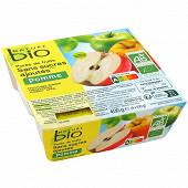 Nature bio purée de fruits sans sucre ajouté pomme 4x100g