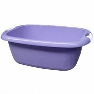 Bassine rectangle 36 litres parme avec poignées soft touch