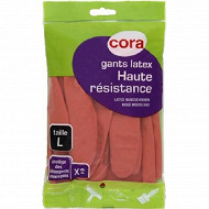 Cora gants de ménage haute résistance T8-8.5