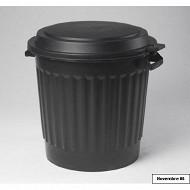 Poubelle d'extérieur 80 litres noire