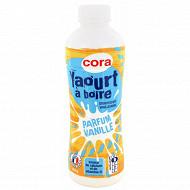 Cora yaourt à boire sucré aromatisé saveur vanille 850g