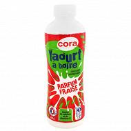 Cora yaourt à boire sucré aromatisé saveur fraise 850g