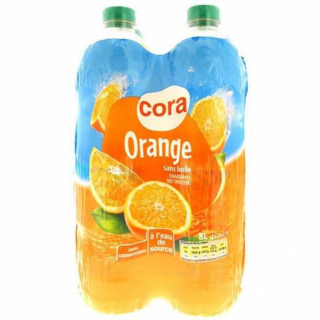 Cora boisson aux fruits orange 4x2l
