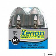 Coffret 2 ampoules xenon diamond blue H1 12V 55W