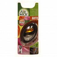 Air wick desodorisant voiture duo membrane pêche/ fraicheur d été